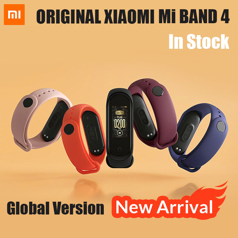 2019 Newest Xiaomi Mi Band 4 Mp3 Music fuction Color Screen Fitness Heart Rate miband 4