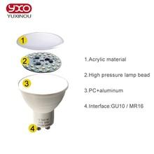 10PCS  6W LED lampada lamp Light GU10 MR16 GU5.3 AC 220V COB Led Spotlight Bulb Warm/Cool White LED Down Home Lighting