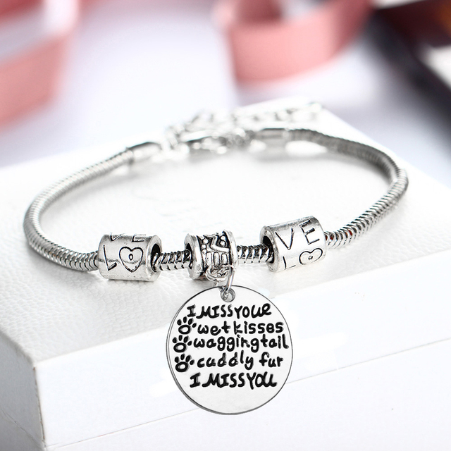 aluminum loss memorial dog bracelet xpressivempressions cat from of personalized p pet cuff