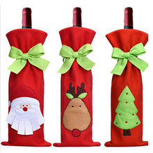 3 PCS 2018 New Fashion Santa Claus Wine Gift Bags Christmas Table Decorations Ornaments Enfeites De Natal Papai Noel(China)