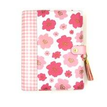 Fromthenon cuadernos y diarios de flores en espiral, planificador coreano A5 2020, calendario diario, semana, mes, planificador, papelería para niñas