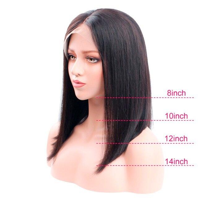 Krótki Bob koronkowa peruka 13*4 koronkowa peruka na przód brazylijski Remy ludzki włos peruka 150% prosto koronkowa peruka na przód wstępnie oskubane z dzieckiem włosy