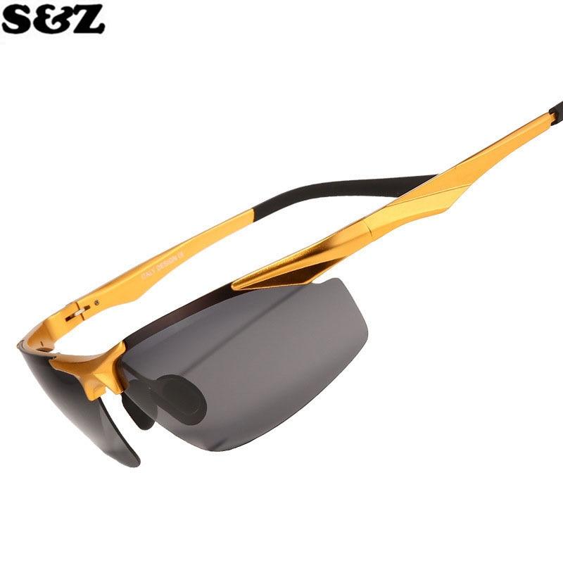 a991faf5949603 Vente chaude Ebay Amazon En Aluminium Magnésium lunettes de Soleil  Polarisées Hommes Femmes HD Conduite Miroir Or Métal Lens Lunettes