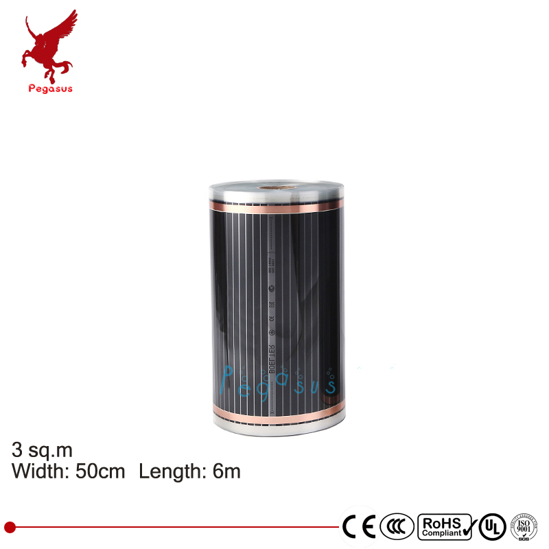 3 square meter Length 6m Width 50cm far infrared carbon crystal heating film high quality Heating mat Carbon fibre Heating film my2 10 2pcs lot t 1000w 60 100cm far infrared wall mount crystal comfortable warm wall infrared heater carbon crystal heater