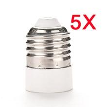 5 PCS E27 to E14 LED Light Bulb Base Converter Socket Screw Adapter E2shopping