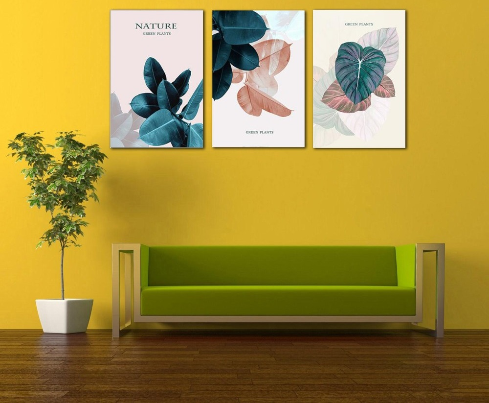 Modern Minimalist Abstract Plant Leaves Nordic Decorative Painting ...