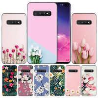 Tulipanes flor TPU funda de silicona para Samsung Galaxy A50 A70 A40 A30 A20 A20e A10 A9 A8 A7 A6 Plus 2018 M30 M20 M10 Nota 8 9
