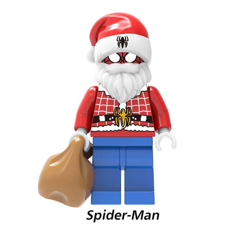 Blocos de construção de Tijolos Deadpool Wolverine Homem Da Árvore Do Feliz Natal Capitão Americano Bonecas Para Crianças Brinquedos PG1616
