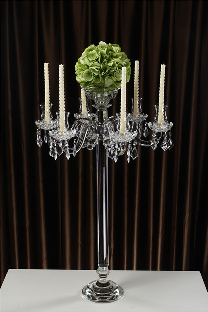 2015 Latest Tall Wedding Centerpieces Crystal Candelabra Flower