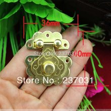 36 * 40 mm flower buckle/yellow tin buckles/can match the lock button box /camera obscura(China)