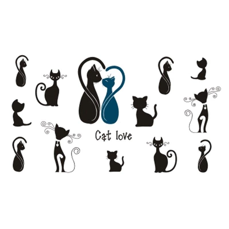 2017NEW Hot Design Temporary Tattoo For Adult Waterproof Tatoo Sticker Body Art Fashion Sex Cat A-037 Fake Tattoo Man Woman
