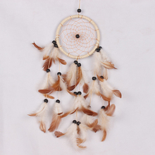 Dream Catcher Feather Handmade Dreamcatcher Net For Car Wall Hanging Decoration Craft Birthday Wishes Gifts