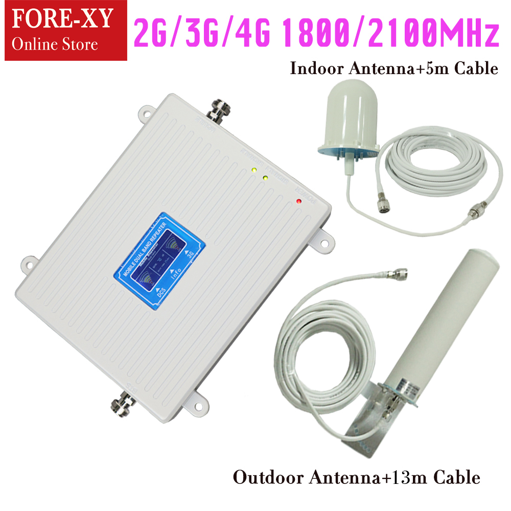 2g 3g 4g lte repeater Gain 70DB DCS / 3G Cell Phone repeater Dual Band 1800 / 2100 mhz mobile signal booster cellular amplifier2g 3g 4g lte repeater Gain 70DB DCS / 3G Cell Phone repeater Dual Band 1800 / 2100 mhz mobile signal booster cellular amplifier