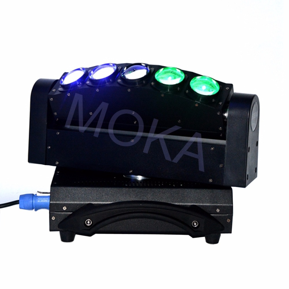 Luz de haz de MOKA de 5 cabezales de luz LED de 5X10 W DMX 4IN1 RGBW Luz de barra de discoteca de escenario en movimiento 3 clavija XLR enchufes TV LIVE SHOW proyector - 3