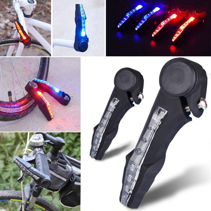 2PCS Bicycle Mountain Bike Handlebar Grips Ends LED Signal Warning Light Lamp Bright Outdoor Cool Riding Equipment P50