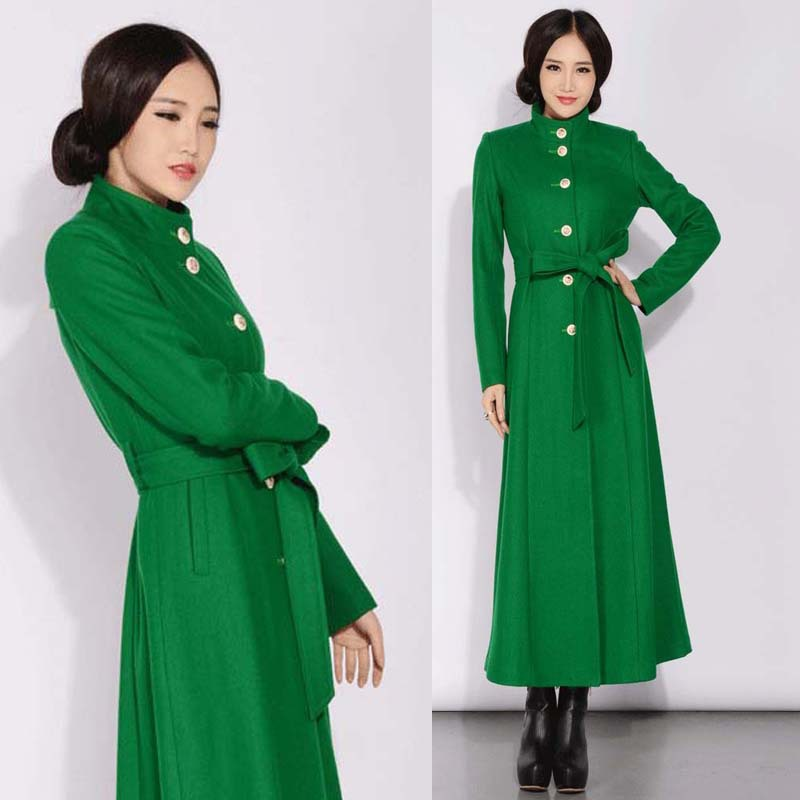 High Quality Green Cashmere Coat-Buy Cheap Green Cashmere Coat ...