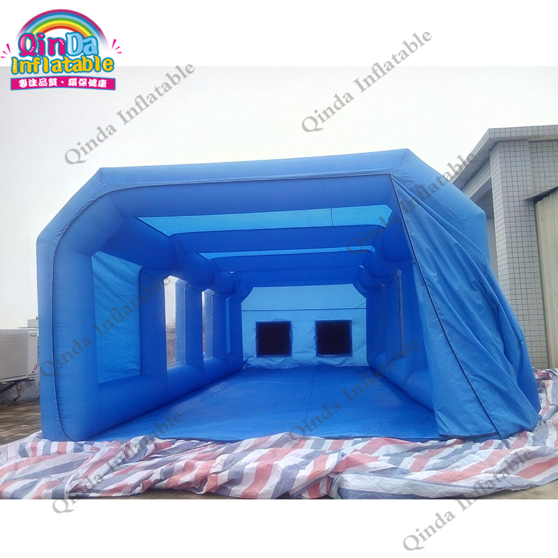 все цены на 8m*4m*3m spray booth inflatable cube tent car spray paint booth with spray booth carbon filter for car painting folding room онлайн