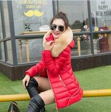 2015 Корейский Стиль Последней Моде Женщины Зимнее Пальто Супер Теплый Мягкий Одежда Элегантный Pure color Тонкий Пальто Хлопка Пятно G0489