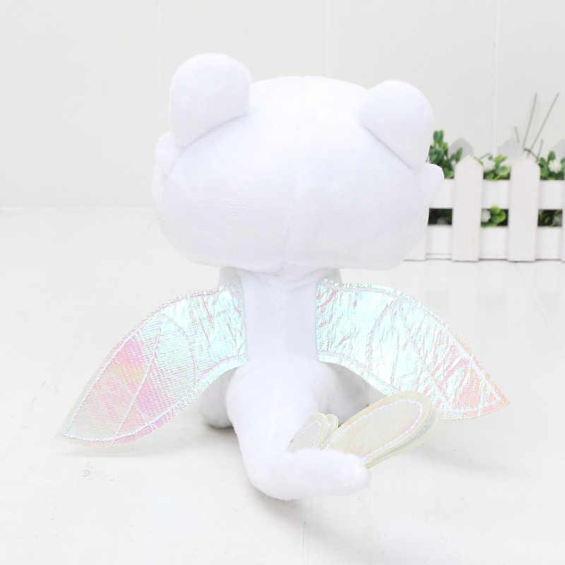 15cm anime como treinar seu dragão 3 luz fúria brinquedo de pelúcia toothless macio dragão branco recheado boneca brinquedos presente para crianças