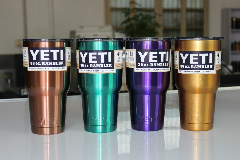 2016 <font><b>New</b></font> <font><b>YETI</b></font> Mugs Stainless Steel Tumbler Travel Insulated Mug Handle In Car Coffee <font><b>Cup</b></font> With Lid Large Capacity 30OZ <font><b>Yeti</b></font> <font><b>Cups</b></font>