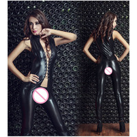 Sex Leather Leotard Women Erotic Lingerie Rave Festival Ballroom Dance Bodysuit Bodies Woman Sexy Costume Body Stocking Suit