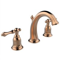 New arrival luxury brass America style bathroom widespread 8' three hole rose gold finished basin faucet,sink mixer
