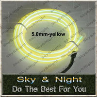 EL wire orange 5.0mm thinkness neon lights 50M +220v inverter+free shipping high brightness el wire