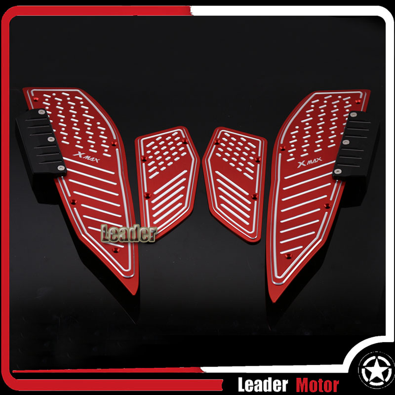 For YAMAHA XMAX250 XMAX300 XMAX400 XMAX 250 300 400 X-MAX 250 Motorcycle Footrest Motorcycle Footboard Step Autobike Foot Plate for yamaha n max 155 nmax 155 n max 155 2015 2016 motocross accessories footrest motorcycle footboard step autobike foot plate