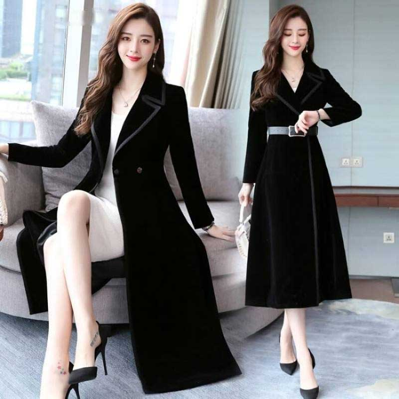 2019 New style windbreaker jacket velvet jacket waist collection jacket and jacket for women in