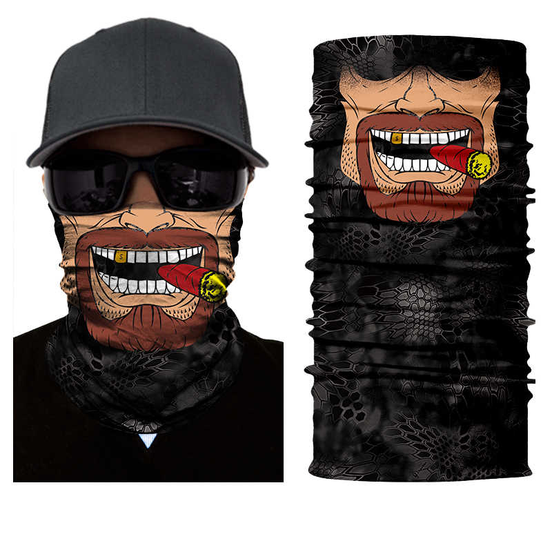 BJMOTO Дизайн человеческое лицо череп бандана высокие эластичные бесшовные шарфы для верховой езды маски велосипеда волшебный спорт оголовье Дэдпул банданы