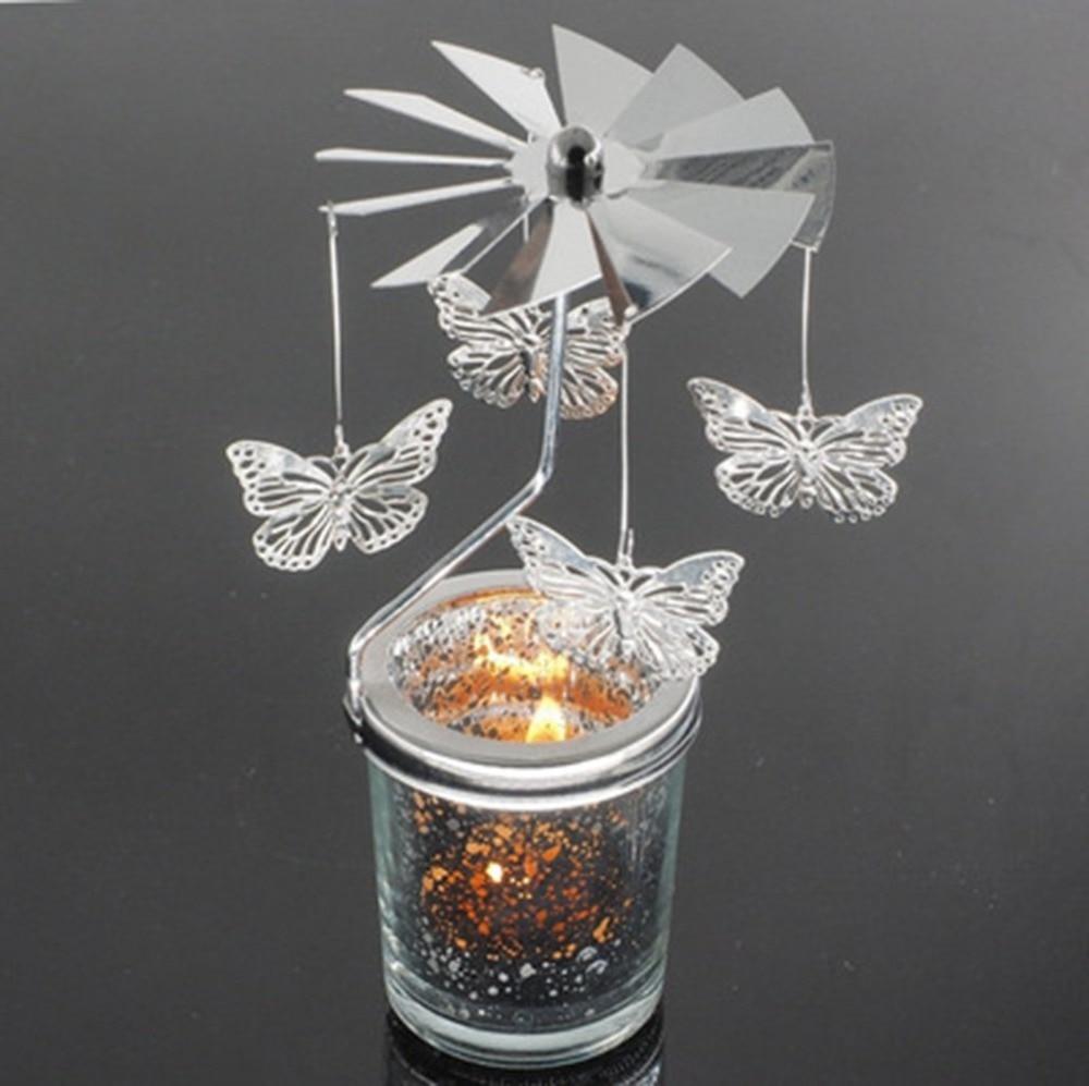 snowflake rotation candlestick butterfly candle holders tea light holder diy party table desk. Black Bedroom Furniture Sets. Home Design Ideas