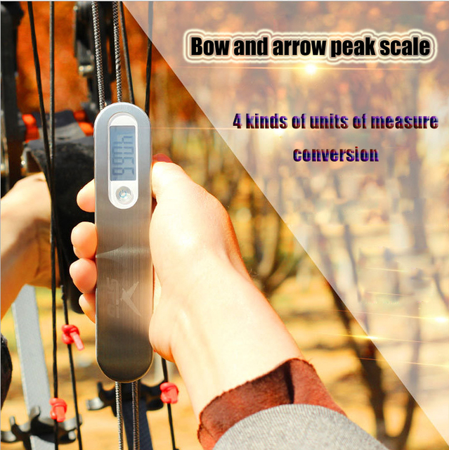 Pijl En Boog 110lbs Digitale Pull Kracht Meten Apparaat Composiet Recurve Boog Wegen Instrument Puller Boogschieten Accessoires