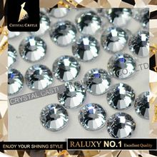 5A 1440Pcs SS10 2 7 2 9mm Clear White Crystal Iron On Hotfix Crystal Hot Fix