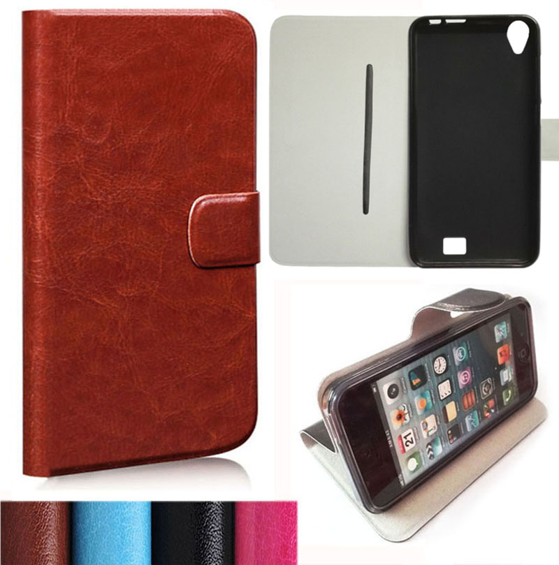 High Quality Flip PU Leather Cover Case For Homtom HT16 (5 inch) Special Cell Phone Holster(Gift HD Film + Touch Pen + Tracking)