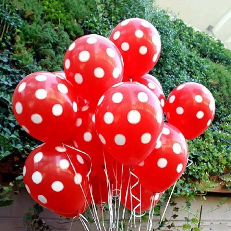 20pcs 12 inch Latex Polka Dots Balloon Wedding Birthday Balloons Decoration Glob