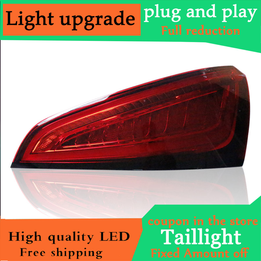 D YL Car Styling Case for Audi Q5 2009 2018 Taillights Tail lights LED Tail Lamp