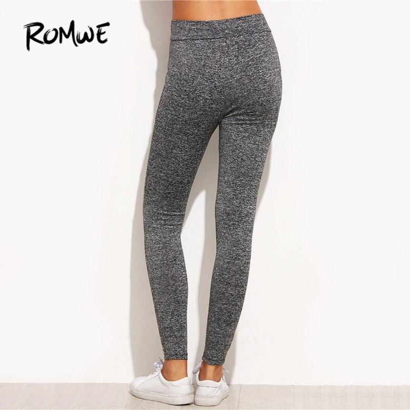1039176f4adfb [Hot Offer] ROMWE Marled tricot maille insérer déchiré Leggings 2019  nouvelle mode femmes Fitness Legging décontracté Skinny Leggings    blacksheepweston.co. ...