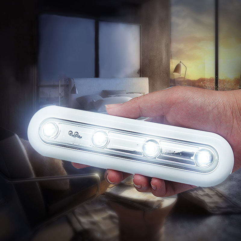Wireless Battery Powered LED Touch Tap Light Lamp Home