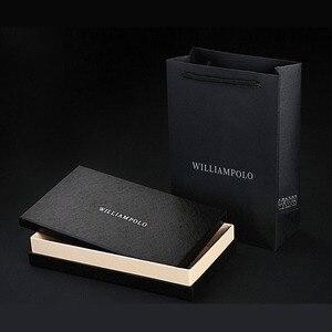 Image 5 - Мужской кошелек из 100% кожи WILLIAMPOLO, длинный вязаный бумажник с узором, 2019
