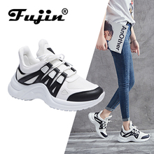 FUJIN Brand Women Casual Shoes Sneakers 2019 Fashion Spring Autumn Summer Female Lace Up Pu Leather for