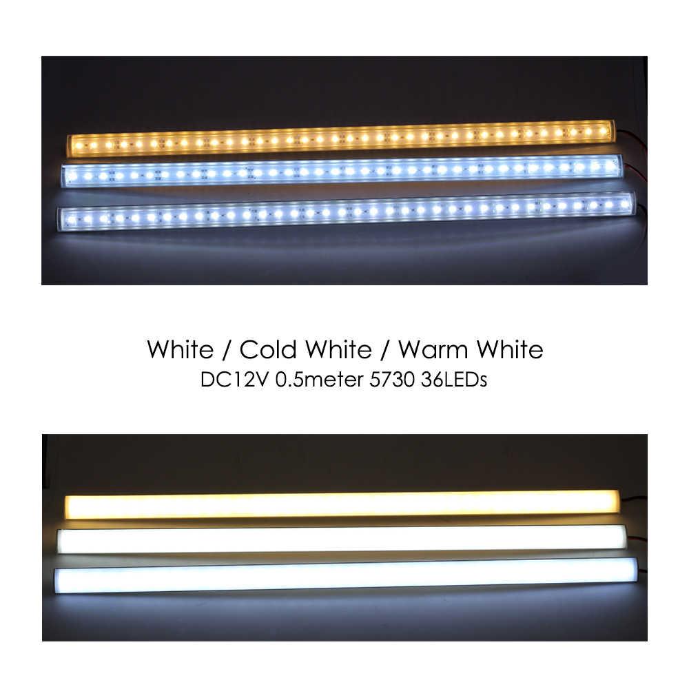 2/5/10 fotki/lot narożnik ścienny LED drążek LED DC12V 50cm 36LEDs 5730 lekka wysoka jasność energooszczędna LED fluorescencyjna świetlówka LED