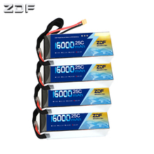 ZDF 4pcs/lot 6S 16000mah 22.2V 25C Max 50C Lipo Drone FPV Battery For Quadcopters Helicopters RC Models Li-polymer