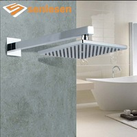 Wholesale And Retail Wall Mounted Square Rainfall Shower Head Chrome Finish Top Shower Shower Hose Brass