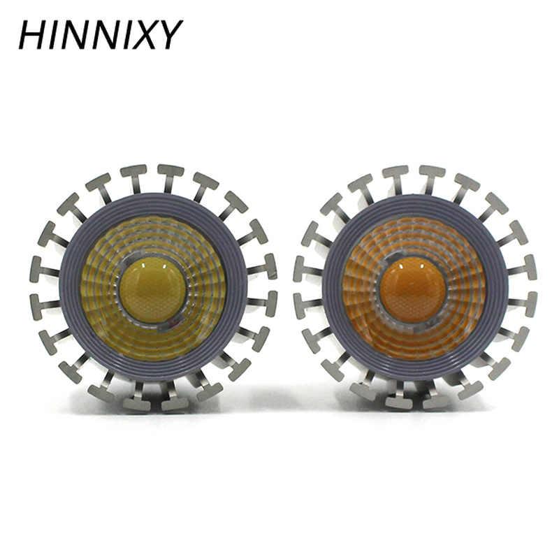 Hinnixy светодиодный MR16 GU5.3 прожекторная лампа 6 Вт 100 V-240 V Алюминиевые лампочки высокого тепловым излучением светодиодный COB светильник для потолочных светильников подвесные светильники