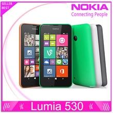 """Nokia Lumia 530 оригинальных окон телефона 8.1 телефона 4.0 """" сенсорный экран quad-группы две сим-бесплатная 4 ГБ ROM 5-мп камерой 3 г WCDMA Wifi GPS"""