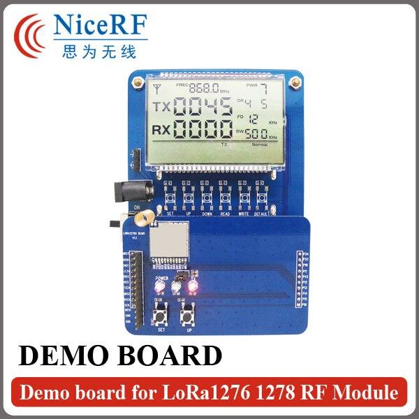 imágenes para Placa de DEMOSTRACIÓN Con Pantalla LCD para Probar LoRa1276/LoRa1278 Módulo de Transceptor