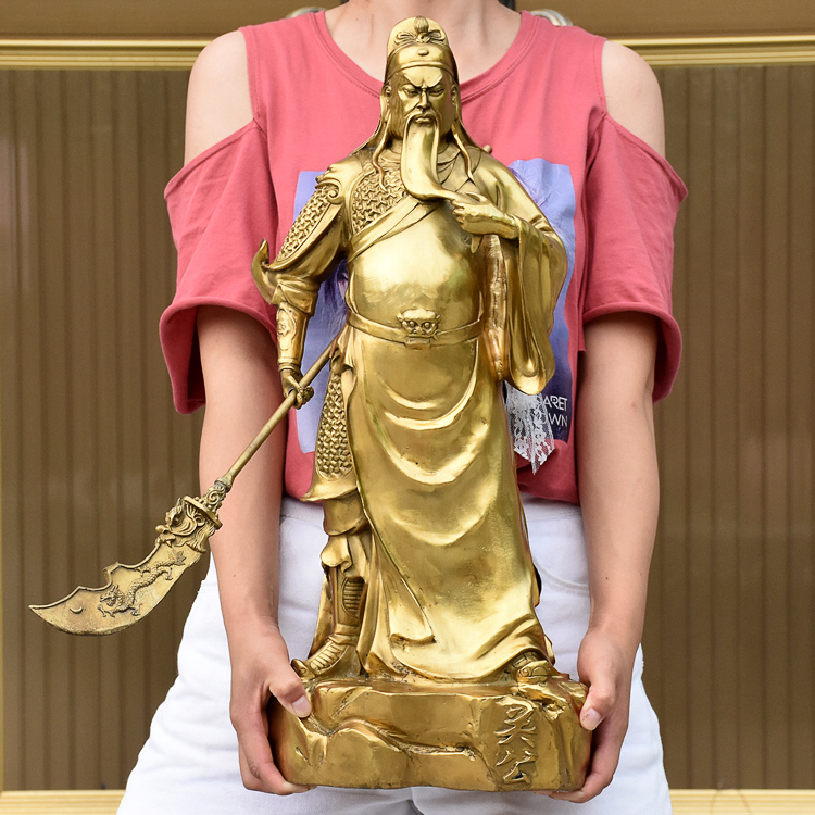 55 CM huge Efficacious Talisman office home House Protection Money Drawing Martial god of wealth guan gong Guandi BRASS statue55 CM huge Efficacious Talisman office home House Protection Money Drawing Martial god of wealth guan gong Guandi BRASS statue