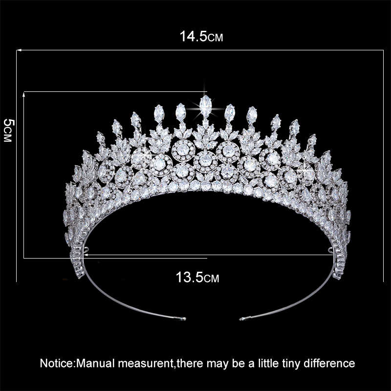 Couronne bandeau HADIYANA à la mode cheveux bijoux conception pour les femmes haute qualité mariage fête couronnes BC4819 Haar Sieraden Bruiloft