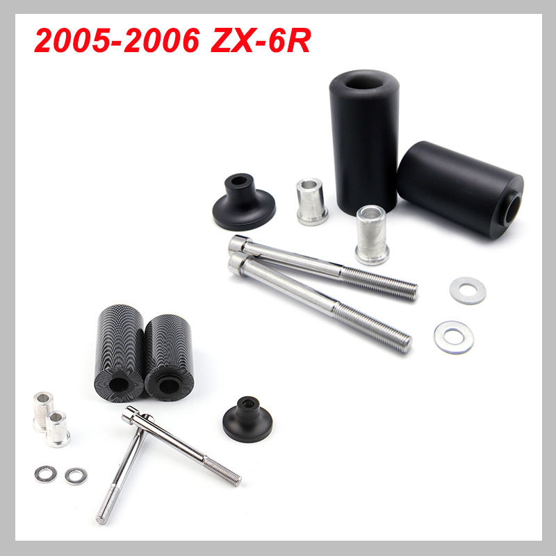 No Cut Frame Slider Pad For 2005-2006 Kawasaki Ninja ZX-6R ZX6R ZX 6R 2005 2006 Crash Falling Protection Motorcycle Parts
