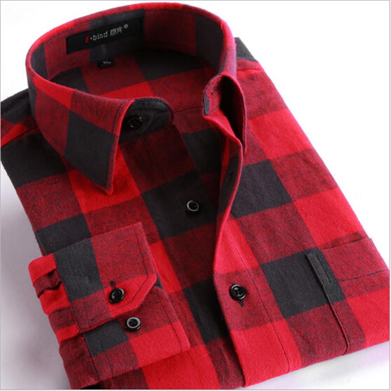 camisas de los hombres de moda primavera otoo de los hombres hombre ropa de franela